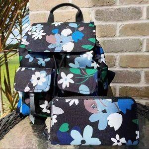 Bundle💕Kate Spade Floral Backpack & Wallet